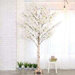 인조나무 인테리어 조화 라일락나무 230cm 화이트핑크