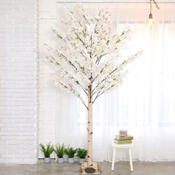 인조나무 인테리어 조화 라일락나무 190cm 화이트핑크