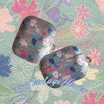 knit vintage flower airpods case (하드에어팟케이스)