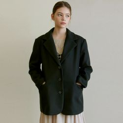WINTER NOTCHED COLLAR JACKET [BLACK]