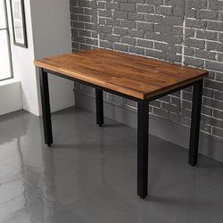 라슨 멀바우 원목 스틸 식탁테이블