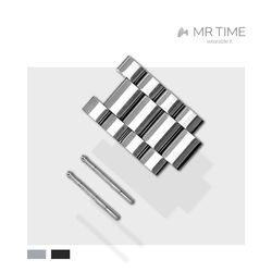 [MR TIME Stainless Steel Metal] 메탈 브러쉬드 4Piece (+30mm)