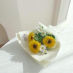 비누꽃 해바라기 꽃다발