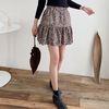 Leopard Cancan Mini Skirt - 치마바지
