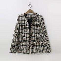 N Tweed Wool Puff Jacket