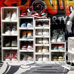튼튼한 신발 수납함 슬라이딩 슈즈 박스 신발장 중형