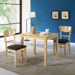 니콜라 2인 식탁 세트 의자 2개 포함