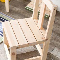 토모 레드파인 원목 의자