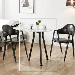 크루프 원형 부부 테이블