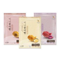 냉동 미니붕어빵 500g 3종 (카스타드통단팥자색고구마 택)