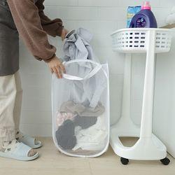 원룸 신혼 빨래통 장난감보관 접이식 메쉬 세탁바구니