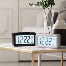 LED 심플 탁상시계 알람 달력 올인원 스마트 책상시계
