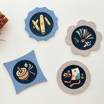 [한지공예] 전통놀이 문양 티코스터 DIY 키트