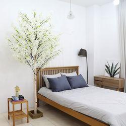 인조나무 인테리어 조화 라일락나무 230cm 화이트