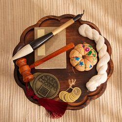 전통 돌잡이 7종 세트 (연브라운)