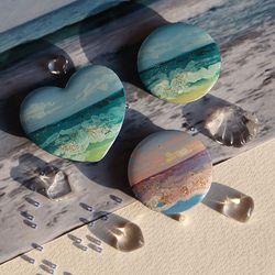 그려낸  바다빛 그립톡 (기본 원 모양)