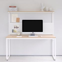 HL5003 필웰 루피노 라운드 타공판 책상 테이블 1500
