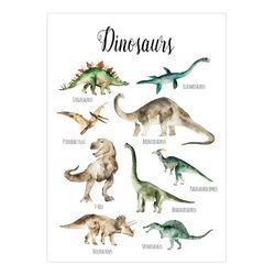 공룡포스터 유아학습 아기방포스터 A2사이즈