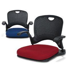 F2697 솔리드 고급형좌식 의자 (팔걸이형)