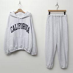 [Set] California Hood Sweatshirt   Jogger Pants