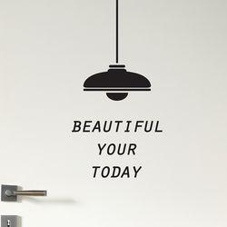 beautiful your today  감성 도어 인테리어 스티커