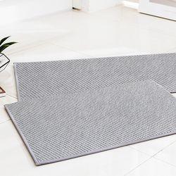 엑셀런트 사이잘룩 라탄 주방매트 그레이 40x180 특대형