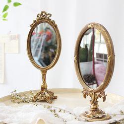 엔틱 스탠딩 거울 - 타원