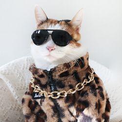 호피무늬 자켓 코트 고양이 강아지 옷 설빔 할로윈 선물 MIYOPET