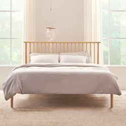 WQB02 필웰 오페라 원목 퀸 침대 (매트포함)