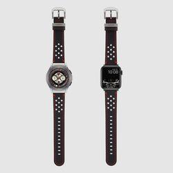 [MR TIME x DUCATI] 두카티 콜라보 시계줄 홀스티치 레더 블랙