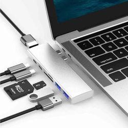 베이식스 P1 7in1 C타입 멀티 허브 USB SD Card HDMI
