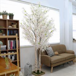 인조나무 조화화분 2대 라일락나무 240cm 화이트핑크