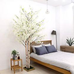 인조나무 인테리어 조화 2대 라일락나무 240cm 화이트