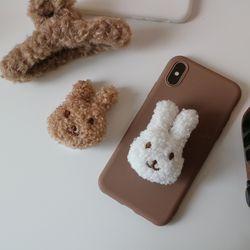 (made)부들 뽀글 토끼 그립톡 폰케이스