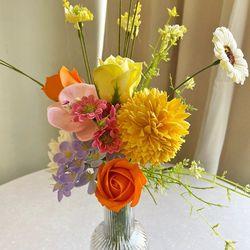 상큼한 컬러의 들꽃 조화 비누플라워 set - 비누꽃 인테리어조화