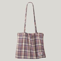 Check pattern eco bag - Pink