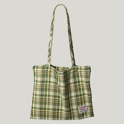 Check pattern eco bag - Green