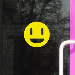 스마일 스티커 16p 심플포인트 인테리어 스티커