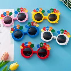 FT 해피벌룬 파티 안경 원형 레드