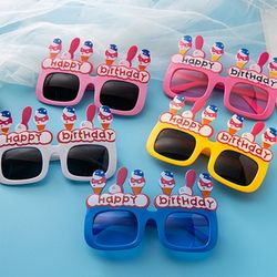 FT 해피벌룬 파티 안경 사각형 레드