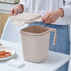 FT 와이클 밀폐 음식물 쓰레기통 베이지