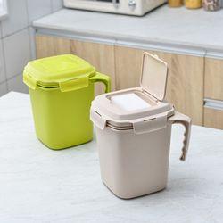 FT 와이클 밀폐 음식물 쓰레기통 모카