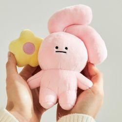 핑크 토끼 키체인 인형