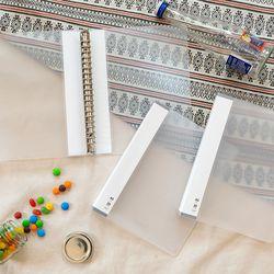 3P바인더 플라스틱 A5 서브바인더 슬림(20공) 20mm(화이트)