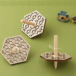 2겹자개무늬팽이우드팽이나무팽이전통모양놀이