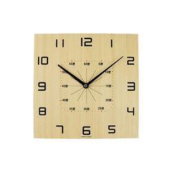 네모 스터디 교육용 우드벽시계