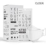 클로저 끈조절 미세먼지 마스크 KF80 대형 화이트 20매