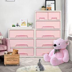 러블리 베이비서랍장 핑크 1단2단3단4단5단 트윈수납 아기옷장