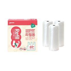 가마스 휴대용-손잡이백 비닐롤백 리필 20매x3개