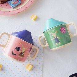 덴마크 유아식기 라이스 양손잡이 스파우트 컵